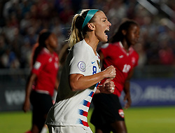October 11, 2018 - Cary, North Carolina, United States - CARY, NC - OCTOBER 10: .Julie Ertz of USA celebrates her goal.During CONCACAF Women's Championship Group A match between Trinidad and Tobago against USA at Sahlen's Stadium, Cary, North Carolina. on October 10, 2018  (Credit Image: © Action Foto Sport/NurPhoto via ZUMA Press)