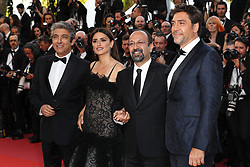 Actor Ricardo Darin, actress Penelope Cruz, wearing jewels by Atelier Swarovski Fine Jewelry, director Asghar Farhadi and actor Javier Bardemattending the screening of Everybody Knows (Todos Lo Saben) opening the 71st annual Cannes Film Festival at Palais des Festivals on May 8, 2018 in Cannes, France. Photo by Shootpix/ABACAPRESS.COM of 'Everybody Knows (Todos Lo Saben)' and the opening gala during the 71st annual Cannes Film Festival at Palais des Festivals on May 8, 2018 in Cannes, France.