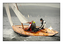 Day one of the Fife Regatta, Round Cumbraes Race.<br /> Coralie, Ewan McEwan, GBR, Bermudan Sloop, Wm Fife 3rd, 1928<br /> <br /> * The William Fife designed Yachts return to the birthplace of these historic yachts, the Scotland's pre-eminent yacht designer and builder for the 4th Fife Regatta on the Clyde 28th June–5th July 2013<br /> <br /> More information is available on the website: www.fiferegatta.com