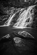 A 15-second exposure at Lower White Oak Falls on the Robinson River; Shenandoah National Park, Virginia