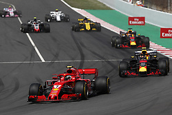 May 13, 2018 - Barcelona, Catalonia, Spain - May 13th, 2018 - Circuit de Barcelona-Catalunya, Montmelo, Spain - Race of Formula One Spanish GP 2018; Kimi Raikkonen of Team Scuderia Ferrari during the Spanish GP. (Credit Image: © Eric Alonso via ZUMA Wire)