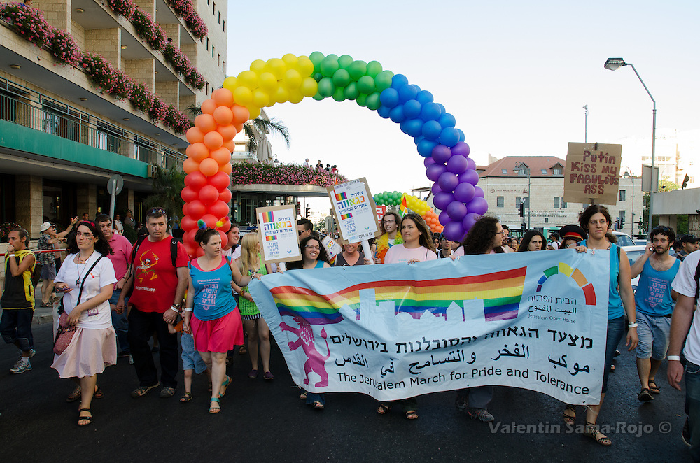 Main banner of The Jerusalem March for Pride and Tolerance 2013.
