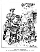 """The New Protector. Herr Hitler. """"I can't stand by and see a poor little Czecho-Slovakian being bullied."""""""