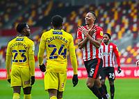 Football - 2020 / 2021 Sky Bet (EFL) Championship - Brentford vs. Wycombe Wanderers  - Brentford Community Stadium<br /> <br /> Ethan Pinnock (Brentford  FC) celebrates afer scoring<br /> <br /> COLORSPORT/DANIEL BEARHAM