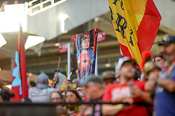 October 21, 2018 - Atlanta, GA, U.S. - ATLANTA, GA - OCTOBER 21: Atlanta United supporters  believe in Atlanta United forward Josef Martinez (7) during the MLS game between the Atlanta United and the Chicago Fire on October 21, 2018 at the Mercedes-Benz Stadium in Atlanta, GA. Atlanta United FC secured a place in next year's CONCACAF Champions League with a 2-1 victory against the visiting Chicago Fire. (Photo by John Adams/Icon Sportswire) (Credit Image: © John Adams/Icon SMI via ZUMA Press)