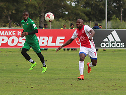 Ajax Cape Town midfielder Ejike Uzoenyi in a friendly game v NFD club Cape Town All Stars at Ikamva on August 10, 2017 in Cape Town, South Africa.