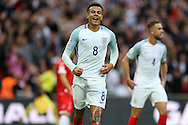 GOAL - Dele Alli of England celebrates after scoring his teams 2nd goal. FIFA World cup qualifying match, european group F, England v Malta at Wembley Stadium in London on Saturday 8th October 2016.<br /> pic by John Patrick Fletcher, Andrew Orchard sports photography.
