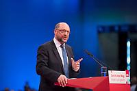 DEU, Deutschland, Germany, Berlin, 07.12.2017: Der SPD-Parteivorsitzende Martin Schulz bei seiner Rede auf dem Bundesparteitag der SPD im CityCube.