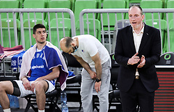 Ivan Perincic, head coach of Zadar during basketball match between KK Cedevita Olimpija (SLO) and KK Zadar (CRO) in Round #22 of ABA League 2020/21, on January 30, 2021 in Arena Stozice, Ljubljana, Slovenia.  Photo by Vid Ponikvar / Sportida