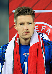 Wales' Wayne Hennessey during the 2018 FIFA World Cup Qualifying, Group D match at the Boris Paichadze Dinamo Arena, Tbilisi. PRESS ASSOCIATION Photo. Picture date: Friday October 6, 2017. See PA story SOCCER Georgia. Photo credit should read: Tim Goode/PA Wire. RESTRICTIONS: Editorial use only, No commercial use without prior permission.
