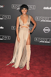 December 10, 2016 - Los Angeles, CA, United States of America - Maya Washington arriving at the Star Wars ''Rogue One'' World Premiere at the Pantages Theater on December 10 2016 in Hollywood, CA  (Credit Image: © Famous/Ace Pictures via ZUMA Press)