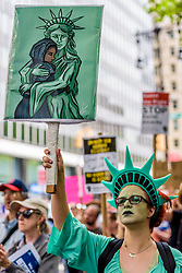 June 10, 2017 - New York, New York, United States - On June 10, 2017; the New York chapter of the Council on American-Islamic Relations (CAIR-NY) and the New York Immigration Coalition (NYIC) partner with other leading civil rights groups and grassroots activists to rally in support of the Muslim community, showcasing a pluralistic alternative to the white supremacist and Islamophobic  ''March Against Sharia'' in Foley Square.  Rather than responding to ACT for America's hateful rhetoric, organizers hope to put forth a separate and wholly positive and pluralistic message. (Credit Image: © Erik Mcgregor/Pacific Press via ZUMA Wire)