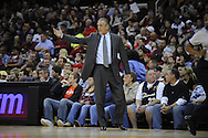 Miami Heat head coach Pat Riley..The Miami Heat lost to the host Cleveland Cavaliers 84-76 at Quicken Loans Arena, April 13, 2008...