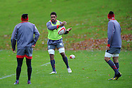 Wales rugby player Toby Faletau (c) .Wales rugby team press conference and training at the Vale, Hensol near Cardiff, South Wales on Thursday 7th Nov 2013. pic by Andrew Orchard, Andrew Orchard sports photography,