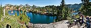 Rampart Rakes, Rampart Ridge, Alta Mountain, Hi Box Mountain, in Alpine Lakes Wilderness, Wenatchee National Forest, Washington, USA. Panorama stitched from 14 images.