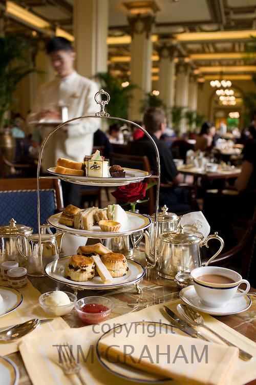 High tea at the Peninsula Hotel, Hong Kong, China