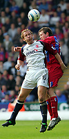 Photo:  Frances Leader, Digitalsport<br /> Crystal Palace v Middlesbrough. Barclays English Premier League.<br /> Selhurst Park.<br /> 02/04/2005<br /> Middlesbrough's Ray Parlour and Crystal Palace's Gary Borrowdale head the ball.