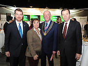 Pictured at the Holiday World Show Ambassador Reception was from left to right: Paul Schellekens Ambassador of The Nertherlands, Maureen Meehan Cormac Meehan president Irish Travel Agents Association and Richard Andrews Ambassador of Australia.<br />Photograph: Aidan Crawley