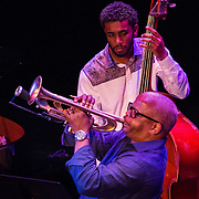 The Terence Blanchard Quintet performs at The Music Hall in Portsmouth, NH. August, 2013. Terence Blanchard, Trumpet. Brice Winston, Sax. Babian Almazan, Keyboards. Joshua Crumbly, Bass. Kendrick Scott, Drums.