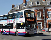 Bus to Rail station, Norwich, England