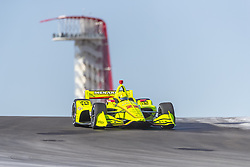 February 12, 2019 - Austin, Texas, U.S. - SIMON PAGENAUD (22) of France goes through the turns during practice for the IndyCar Spring Test at Circuit Of The Americas in Austin, Texas. (Credit Image: © Walter G Arce Sr Asp Inc/ASP)