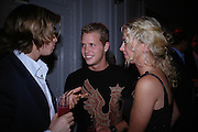 Joey Capriani, Sam Branson and Holly Branson. Paris Hilton's Fragrance Launch Party at Il Bottaccio, Grosvenor Place. London. 16 May 2005. . ONE TIME USE ONLY - DO NOT ARCHIVE  © Copyright Photograph by Dafydd Jones 66 Stockwell Park Rd. London SW9 0DA Tel 020 7733 0108 www.dafjones.com