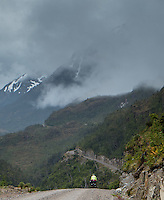 Cyclist by Carretera Austral, Chile