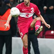 Turkey's Hakan BALTA during their UEFA EURO 2012 Play-off for Final Tournament First leg soccer match Turkey betwen Croatia at TT Arena in Istanbul Nüovember11, 2011. Photo by TURKPIX