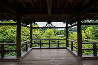 One of the most popular views at Tofukuji Temple is of the Tsutenkyo Bridge, which crosses a valley of lmaple trees. The hundred metre covered walkway has become an icon of Kyoto and is regularly mobbed by tourists especially in autumn.
