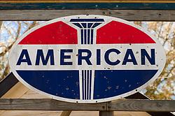 Retro gas station sign