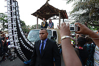 The Duke and Duchess of Cambridge arrive in Honiara, Solomon Islands, as part of their Diamond Jubilee Tour of South East Asia, on the 16th September 2012<br /> <br /> PICTURE BY JAMES WHATLING