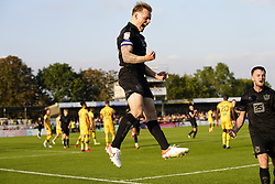 Port Vale's Tom Conlon celebrates after scoring his sides third goal of the game during the Sky Bet League Two match at Borough Sports Ground, Sutton. Picture date: Saturday October 9, 2021.