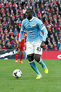 Yaya Toure of Manchester City in action. Capital One Cup Final, Liverpool v Manchester City at Wembley stadium in London, England on Sunday 28th Feb 2016. pic by Chris Stading, Andrew Orchard sports photography.