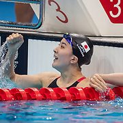 TOKYO, JAPAN - JULY 25  Yui Ohashi of Japan celebrates winning the gold medal in the 400m Individual Medley for Women during the Swimming Finals at the Tokyo Aquatic Centre at the Tokyo 2020 Summer Olympic Games on July 25, 2021 in Tokyo, Japan. (Photo by Tim Clayton/Corbis via Getty Images)