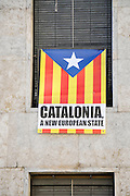 Flags of Catalonia, Photographed in Girona, Catalonia, Spain