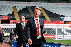 Manchester United Manager Louis van Gaal arrives at the stadium - Mandatory byline: Rogan Thomson/JMP - 07966 386802 - 30/08/2015 - FOOTBALL - Liberty Stadium - Swansea, Wales - Swansea City v Manchester United - Barclays Premier League.