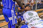 DESCRIZIONE : Campionato 2014/15 Serie A Beko Grissin Bon Reggio Emilia - Dinamo Banco di Sardegna Sassari Finale Playoff Gara7 Scudetto<br /> GIOCATORE : Jeff Brooks Matteo Formenti<br /> CATEGORIA : Postgame Ritratto Esultanza<br /> SQUADRA : Dinamo Banco di Sardegna Sassari<br /> EVENTO : LegaBasket Serie A Beko 2014/2015<br /> GARA : Grissin Bon Reggio Emilia - Dinamo Banco di Sardegna Sassari Finale Playoff Gara7 Scudetto<br /> DATA : 26/06/2015<br /> SPORT : Pallacanestro <br /> AUTORE : Agenzia Ciamillo-Castoria/L.Canu