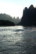 Crusing on the river Li in Yangshuo by early evening