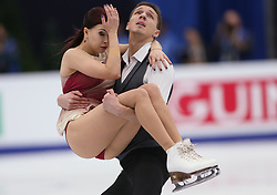 January 20, 2018 - Moscow, Russia - Ekaterina Bobrova and Dmitri Soloviev of Russia perform during an ice dance free dance event at the 2018 ISU European Figure Skating Championships, at Megasport Arena in Moscow, on January 20, 2018. (Credit Image: © Igor Russak/NurPhoto via ZUMA Press)