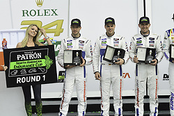 January 28, 2018 - Daytona, FLORIDE, ETATS UNIS - 66 FORD CHIP GANASSI RACING (USA) FORD GT FORD GTLM JOEY HAND (USA) DIRK MUELLER (DEU) SEBASTIEN BOURDAIS (FRA) LEADER GTLM PATRON NORTH AMERICAN ENDURANCE CUP (Credit Image: © Panoramic via ZUMA Press)