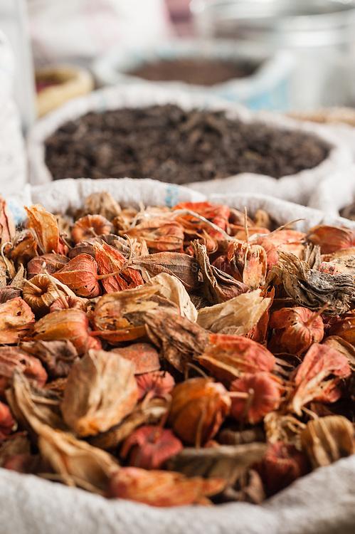 Dried flowers at the bazar, Turpan, Xinjiang, China