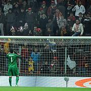 Turkey's goalkeepers Volkan Demirel during their UEFA EURO 2012 Play-off for Final Tournament First leg soccer match Turkey betwen Croatia at TT Arena in Istanbul Nüovember11, 2011. Photo by TURKPIX