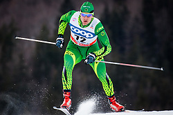 Bursill Jackson (AUS) during Man 1.2 km Free Sprint Qualification race at FIS Cross<br /> Country World Cup Planica 2016, on January 16, 2016 at Planica,Slovenia. Photo by Ziga Zupan / Sportida
