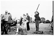 Peregrine Pollen. The Holland and Holland shooting school. 1981© Copyright Photograph by Dafydd Jones 66 Stockwell Park Rd. London SW9 0DA Tel 020 7733 0108 www.dafjones.com