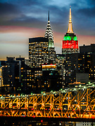 The Empire State Building, Chrysler Building, New York City