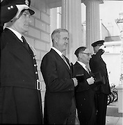 17/05/1961<br /> 05/17/1961<br /> 17 May 1961<br /> New U.S. Ambassador Edward Grant Stockdale presents his credentials at Aras an Uachtarain. Picture shows Ambassador Stockdale leaving Aras an Uachtarain after the ceremony.