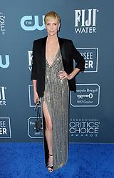 Charlize Theron at the 25th Annual Critics' Choice Awards held at the Barker Hangar in Santa Monica, USA on January 12, 2020.