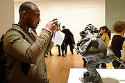 Pablo Picasso, Baboon and young, Valauris, 1951, with museum-goer and camera, 2016.
