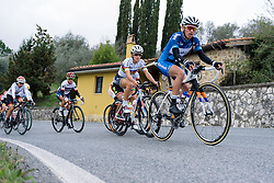 Kasia Niewiadoma leads on the first climb of the day - 2016 Strade Bianche - Elite Women, a 121km road race from Siena to Piazza del Campo on March 5, 2016 in Tuscany, Italy.