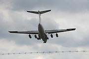 cargo airplane during landing